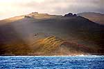 Sun shafts on Auckland Islands
