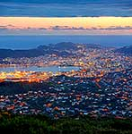 Wellington City at dusk