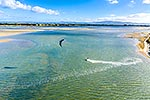 Kite surfing, Maketu, Bay of Plenty