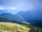 South Westland wilderness rainbow